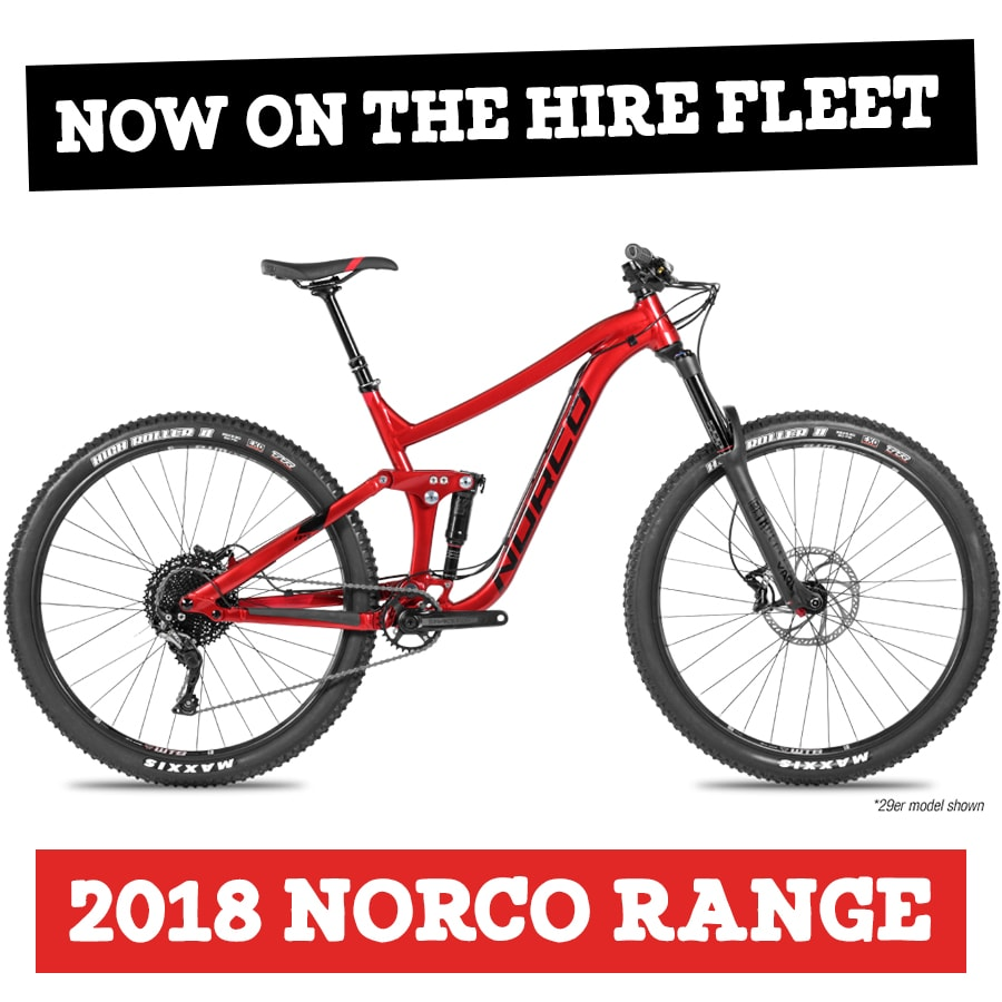 CAIRNS MOUNTAIN BIKE HIRE NORCO BICYCLES 2018 A3 NORCO RANGE